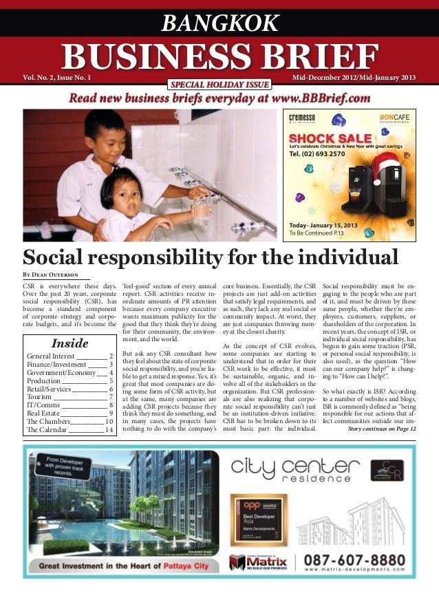 Bangkok Business Brief Magazine - December 2012