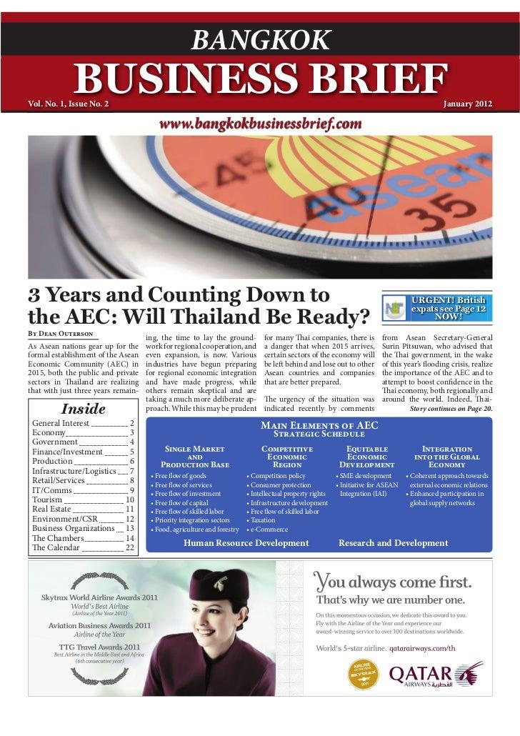 Bangkok Business Brief -  Volume 1, Issue 2 - Jan. 2012