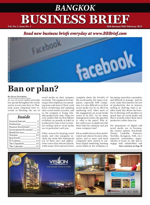 Bangkok Business Brief Magazine - January 2013