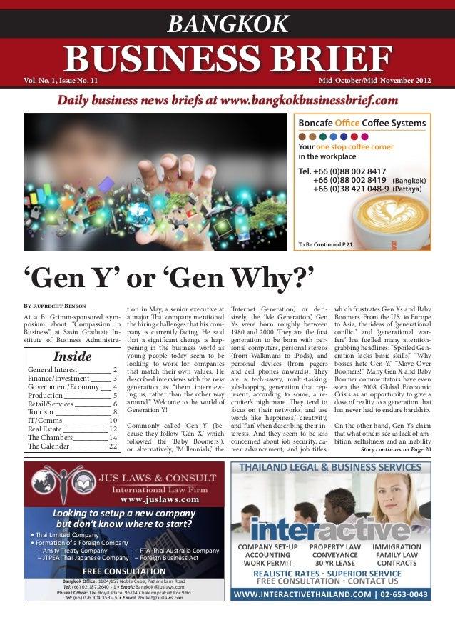 BANGKOK            BUSINESS BRIEFVol. No. 1, Issue No. 11                                                                 ...