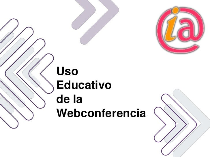 Uso educativo de la webconferencia