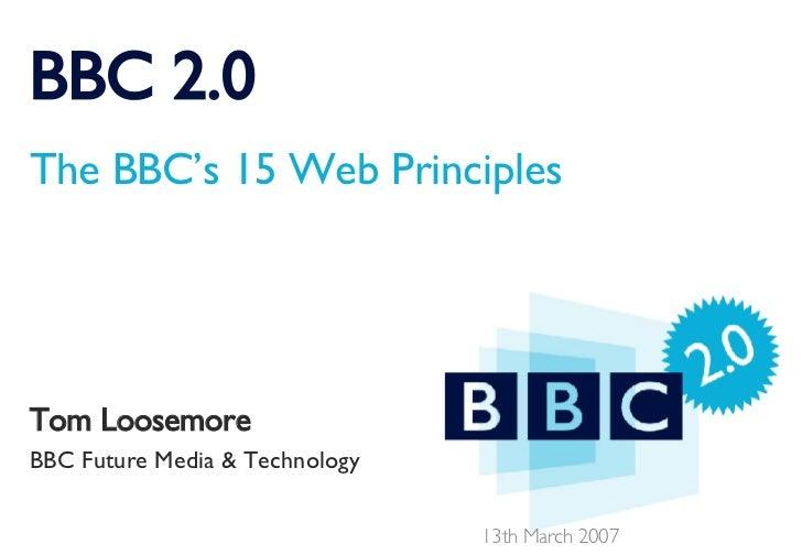 BBC2.0: The BBC's 15 Web Principles