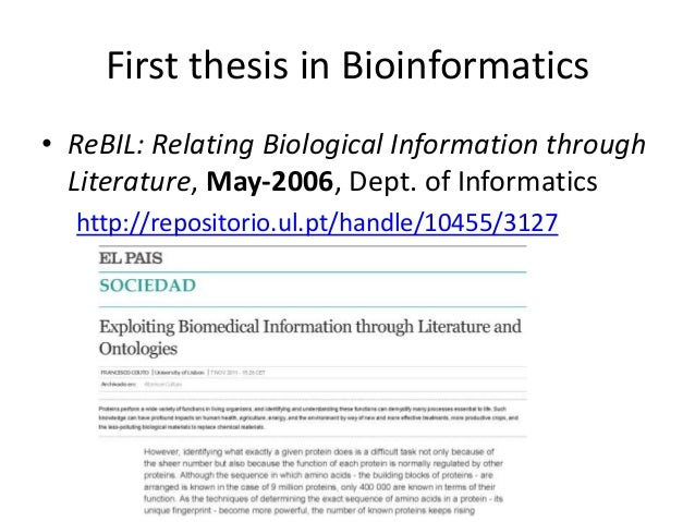 Computational biology phd thesis