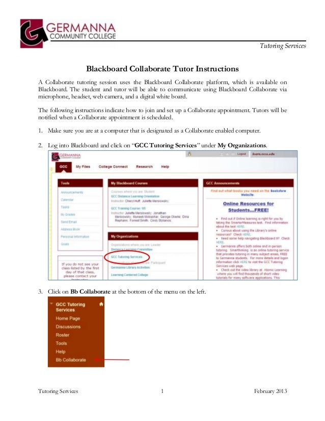 Bb collaborate tutor instructions 2013