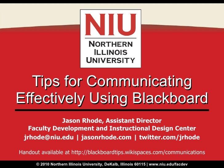 Tips for Communicating Effectively Using Blackboard
