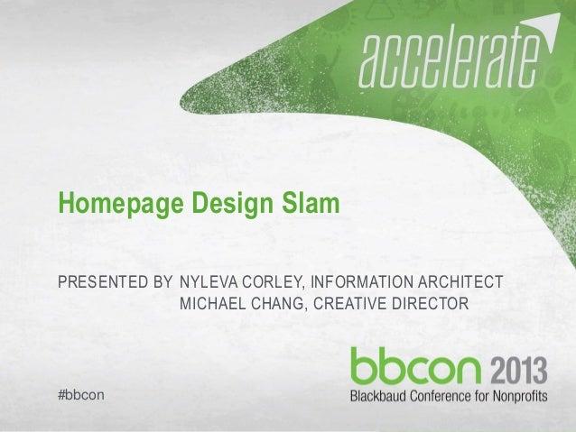 Homepage Design Slam