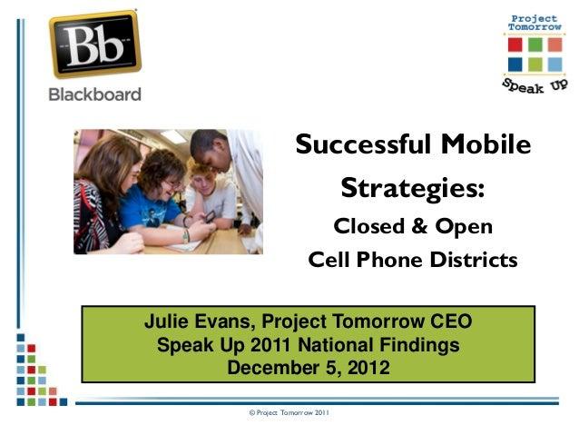 Successful Mobile Strategies 2012