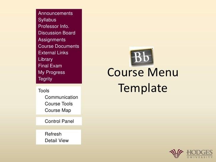 Bb Course Menu Template 1