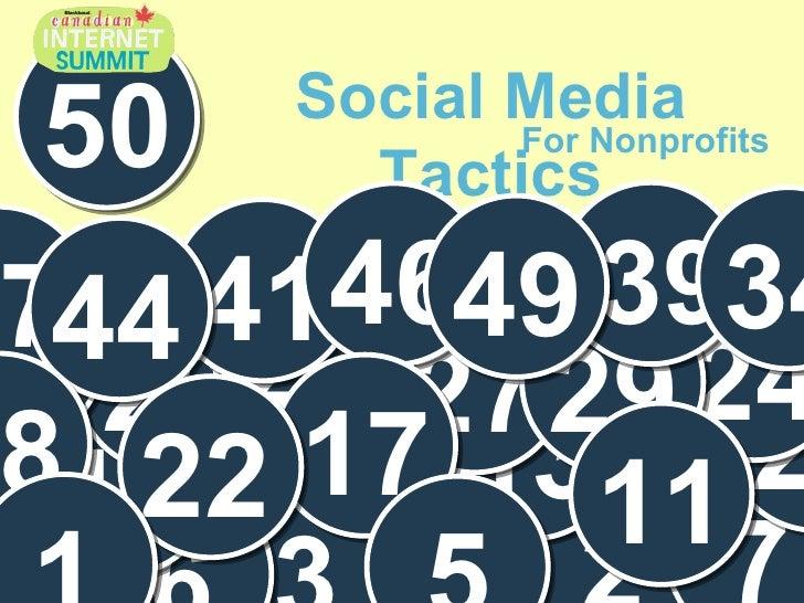 50 Social Media Tactics for Nonprofits - Canadian Edition