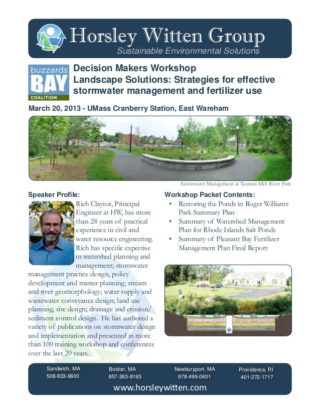 Horsley Witten Group                               Sustainable Environmental Solutions                Decision Makers Work...