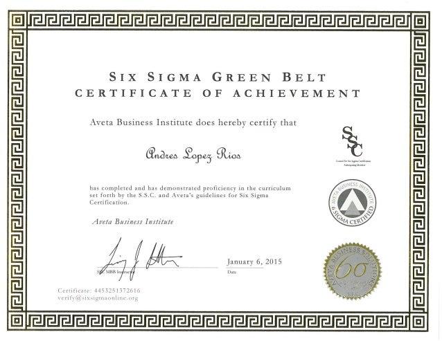 Lean Six Sigma Green Belt Training amp Certification