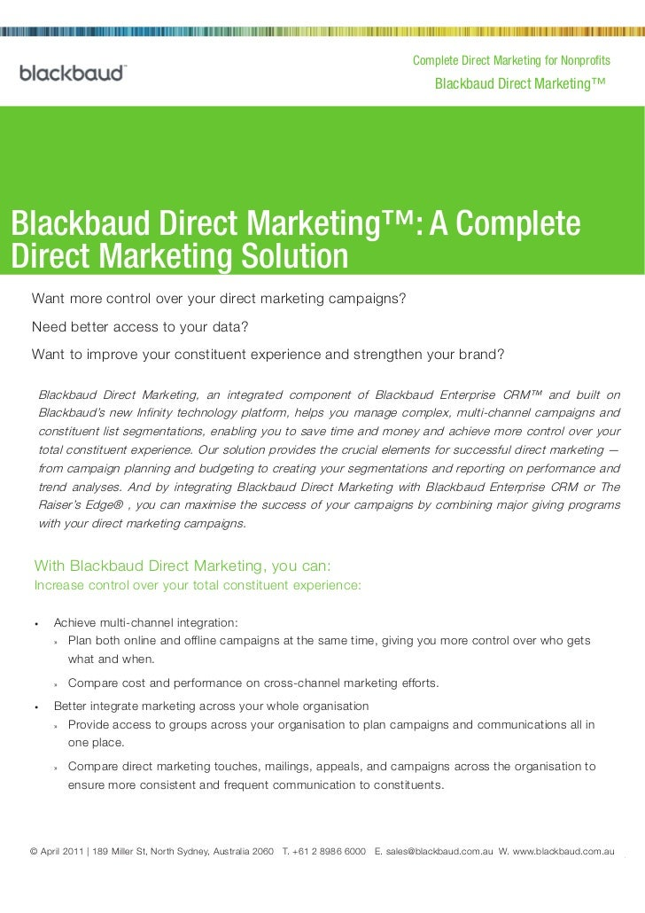 Complete Direct Marketing for Nonprofits                                                                                  ...
