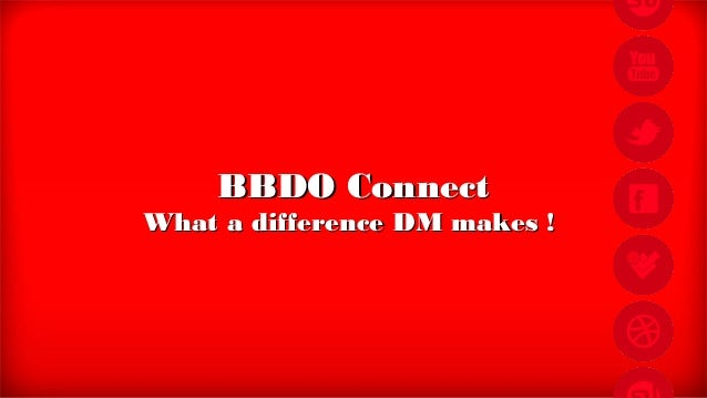 BBDO ConnectWhat a difference DM makes !