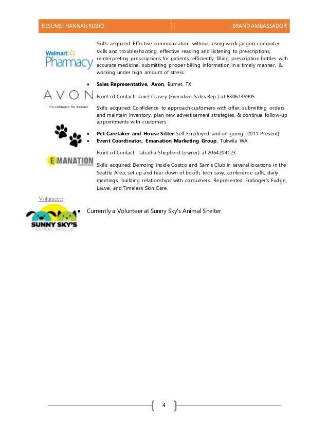 brand ambassador resume sample brand ambassador resume sample brand E30rI5gS