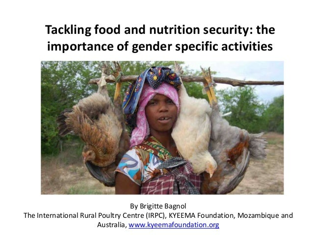 Tackling food and nutrition security: the importance of gender specific activities