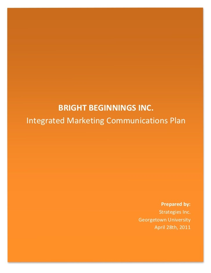 Bright Beginnings Inc. IMC Plan