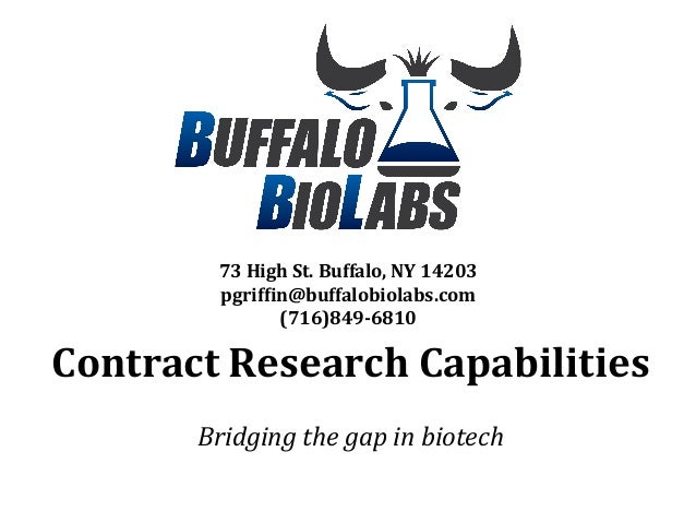 Buffalo Biolabs (BBL) CRO capabilities, March 2014