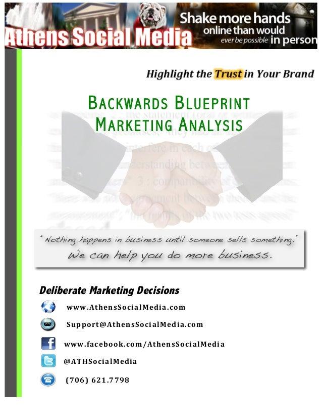 Backwards Blueprint - Marketing Analysis
