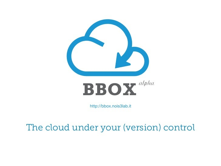 The cloud under your (version) control