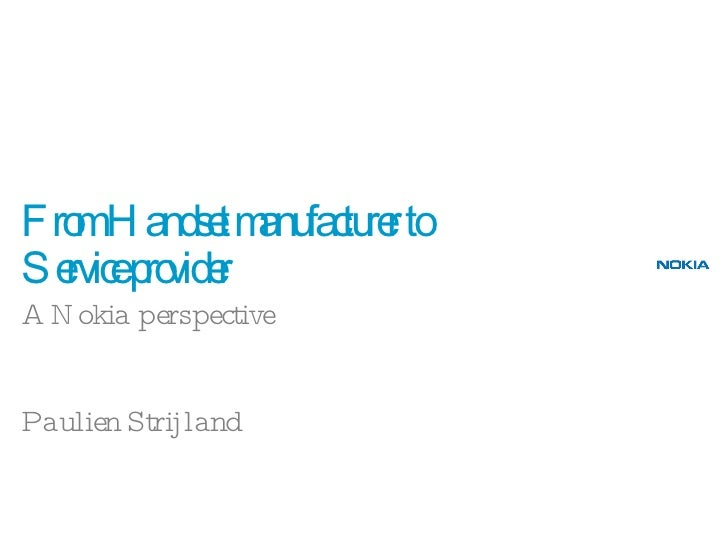 BBP 4/5. Paulien Strijland, Nokia
