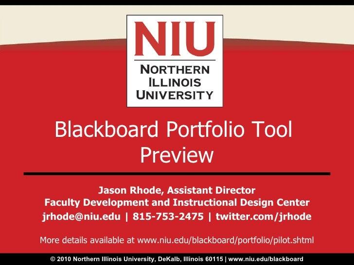 Blackboard Portfolio Tool Preview