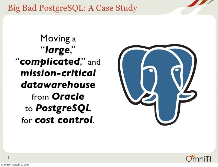 Big Bad PostgreSQL: BI on a Budget