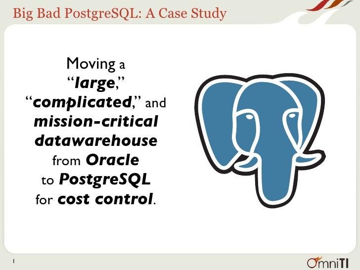 Big Bad PostgreSQL @ Percona