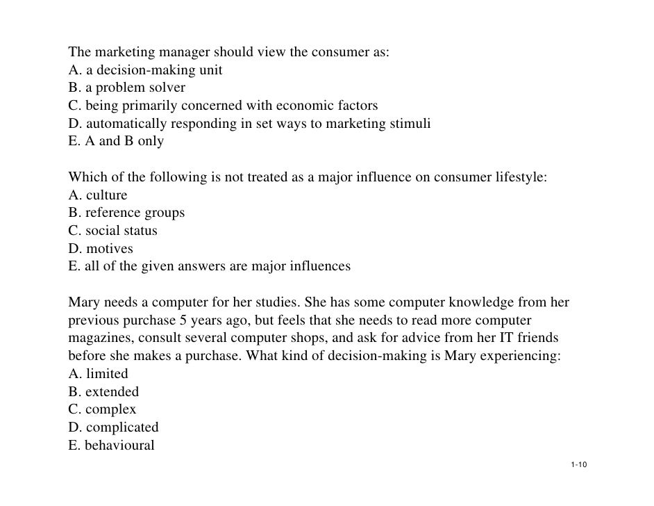 marketing behavior essay Why study consumer behaviour • by studying consumer behaviour we try to understand & gain insight into: – consumer decision making processes.