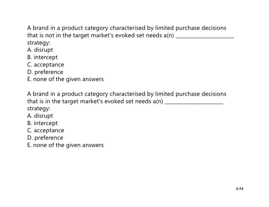 Marketing mix essay questions