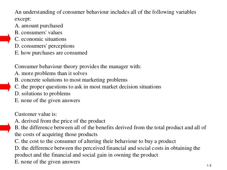 consumer behavior exam question paper Test and improve your knowledge of influencing consumer behavior with fun multiple go to first skipped question restart exam such as paper cups.