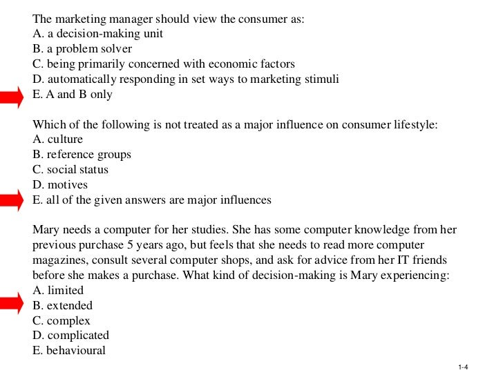 principles of marketing essay questions and answers