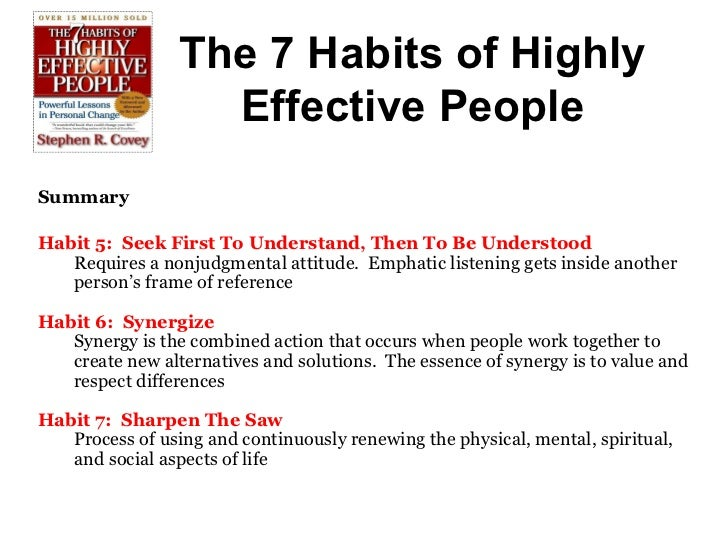 the seven habits of highly effective people 2 essay The paperback of the the 7 habits of highly effective people: powerful lessons  in personal change by stephen r covey at barnes & noble.
