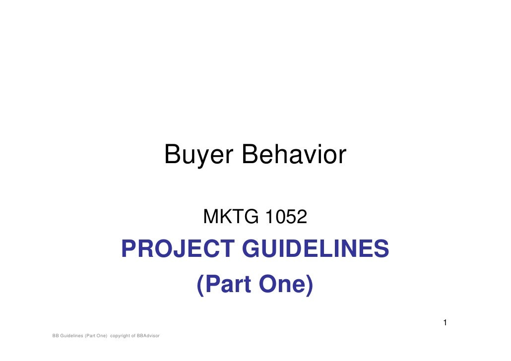 BB Project Guidelines (Part One)