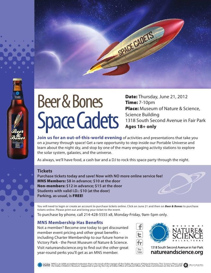 Beer & Bones: Space Cadets