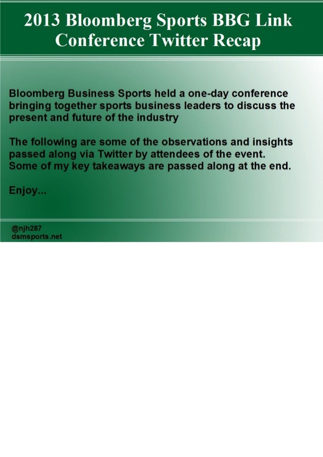 Bloomberg Business Sports Conference Twitter Recap