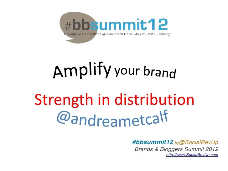 #BBSummit12 - Amplify Your Brand Presentation