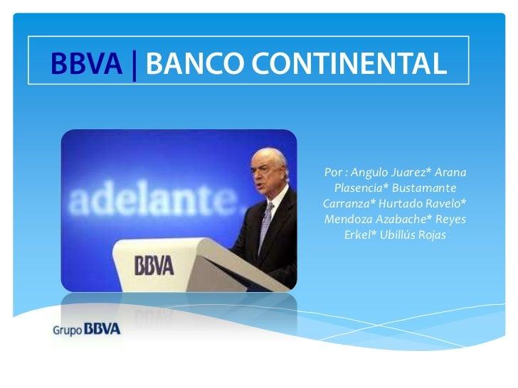 Bbva for Banco continental oficina principal