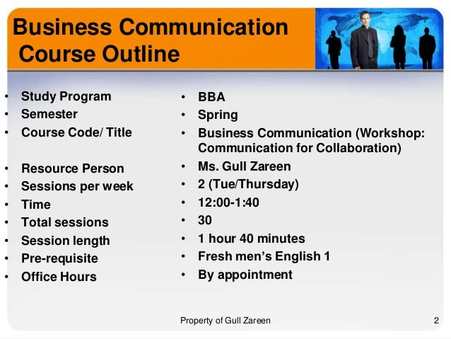 Business report writing course outline