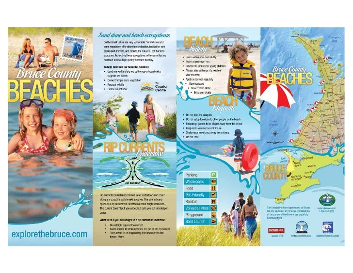 Bruce County Beaches Map