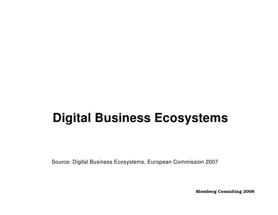 Digital Business Ecosystems   Source: Digital Business Ecosystems, European Commission 2007                               ...