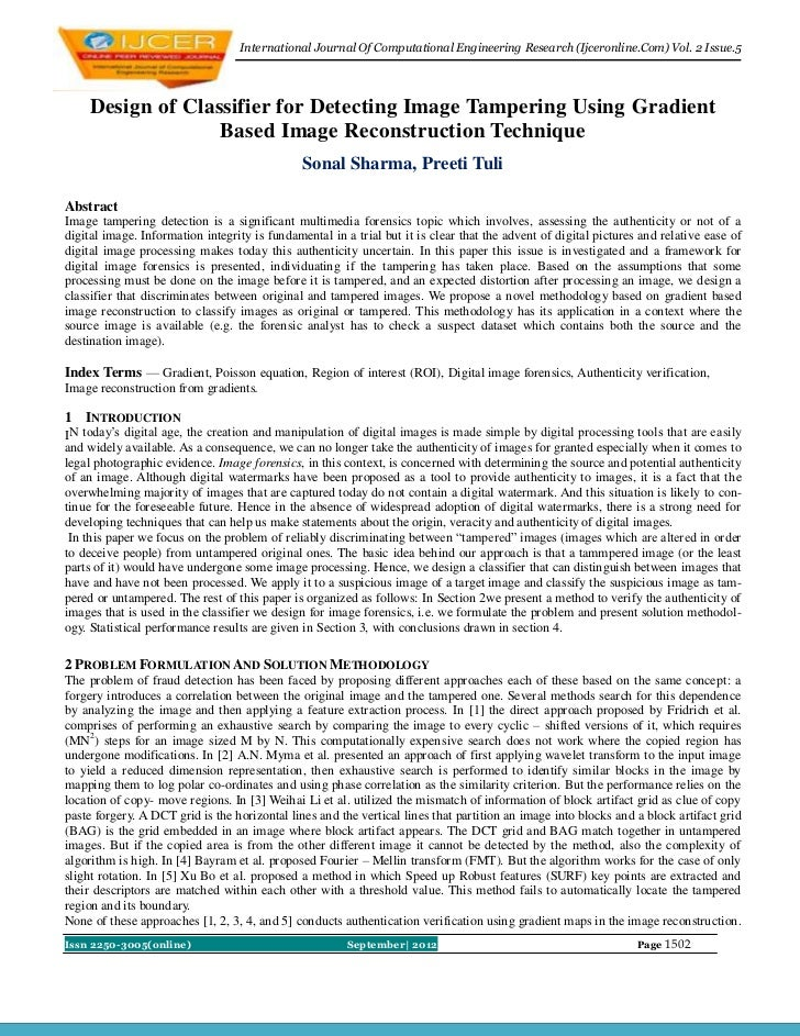 International Journal Of Computational Engineering Research (Ijceronline.Com) Vol. 2 Issue.5     Design of Classifier for ...