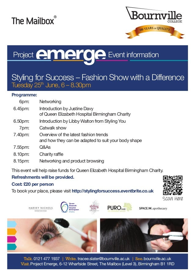 Programme: 6pm:  Networking6.45pm:  Introduction by Justine Davyof Queen Elizabeth Hospital Birmingham Charity6.50pm:...