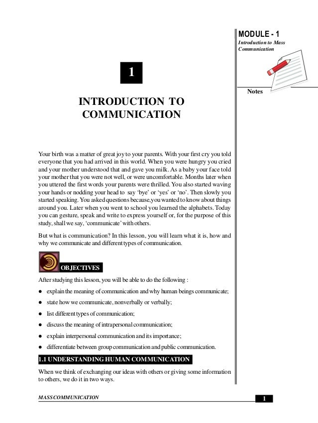 Introduction to Communication                                                       MODULE - 1                            ...