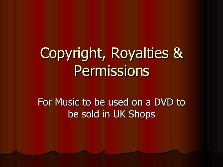 Bc1001   Copyright, Royalties & Permissions