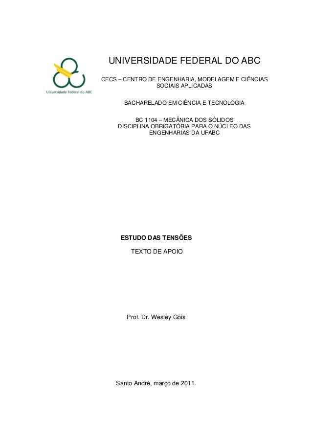 UNIVERSIDADE FEDERAL DO ABC CECS – CENTRO DE ENGENHARIA, MODELAGEM E CIÊNCIAS SOCIAIS APLICADAS BACHARELADO EM CIÊNCIA E T...