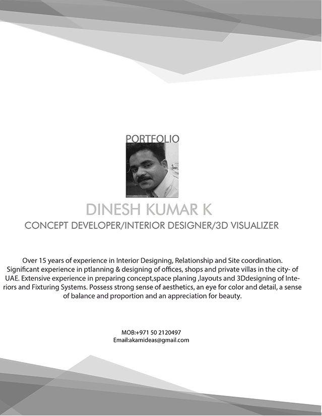 PORTFOLIO-DINESH KUMAR-INTERIOR DESIGNER