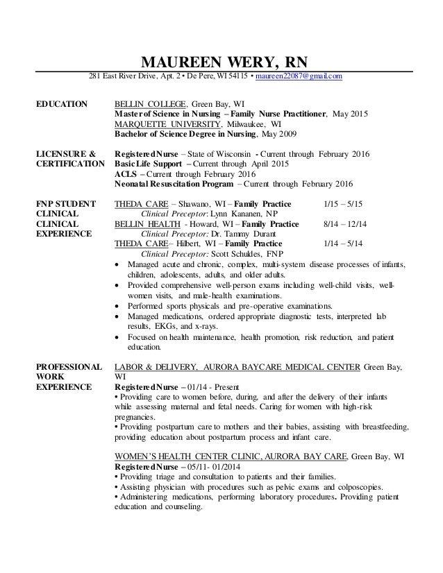 maureen wery resume updated