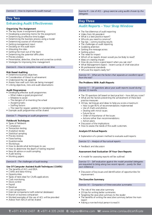 risk based internal audit manual