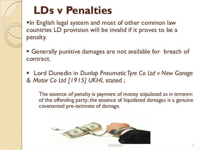 contract law and management liquidated damages The unconscionability of a liquidated damage awards of punitive damages) 3 see mark gould, law and sociology: law of contracts should be expanded to include.