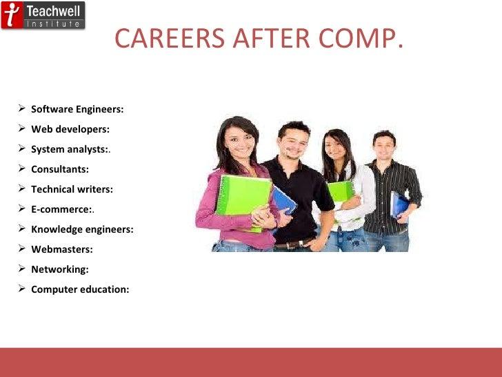 CAREERS AFTER COMP. <ul><li>Software Engineers: </li></ul><ul><li>Web developers: </li></ul><ul><li>System analysts: .  </...